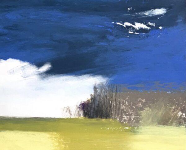white cloud on horizon - hawthorne
